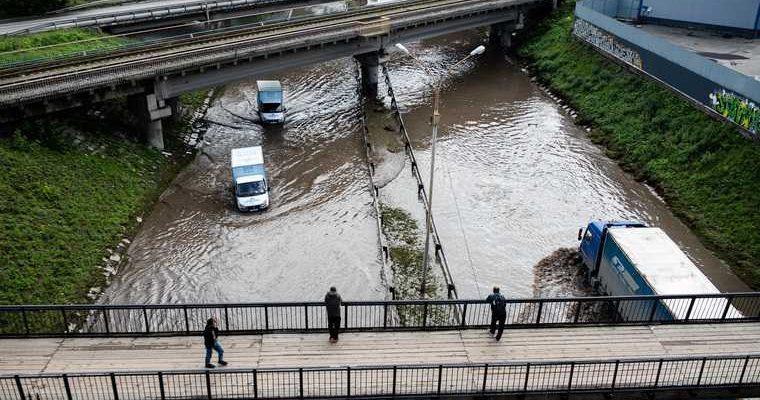 В Екатеринбурге нашли ответственного за потоп на улицах