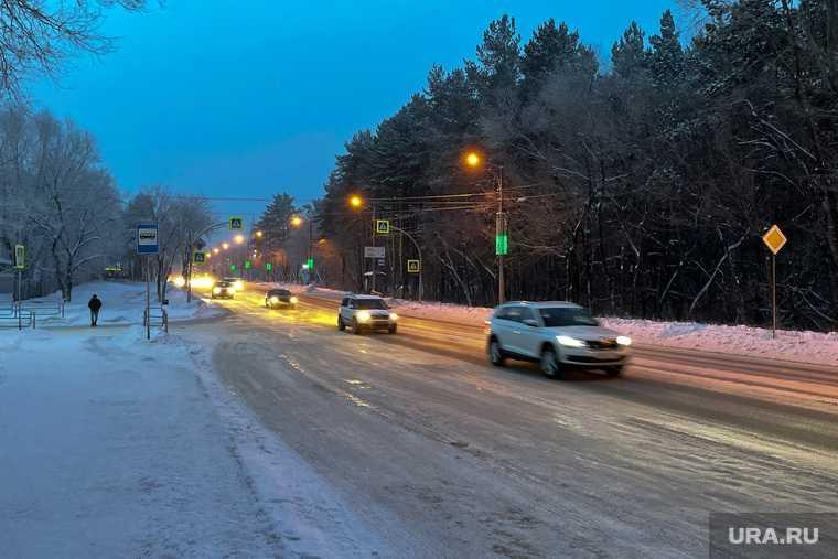 Мороз, зима. Челябинск
